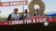 "Din Thomas, Matt Serra and Dana White hit Los Angeles to try their hands at stand-up comedy. Then they chow down at the iconic Randy's Donuts, visit the set of the television show ""Kingdom"" and take in a local fight card that's packed with potential."