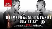 Welterweights Alex Oliveira and James Moontasri meet in the Octagon on Saturday at Fight Night Chicago. Oliveira and Moontasri are slated to headline the UFC FIGHT PASS prelims, beginning at 4pm/1pm ETPT.