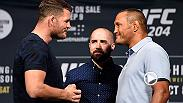 UFC middleweight champion Michael Bisping and No. 1 contender Dan Henderson came face-to-face for the first time before their rematch at UFC 204. Watch the staredown and get your tickets for UFC 204 in  Manchester, England on Sept. 9.