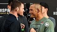 Michael Bisping and Dan Henderson face-off and exchange some friendly trash talk after media day from UFC 204.
