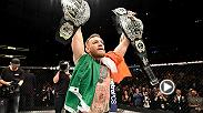 Watch Conor McGregor talk backstage after his historic title win against Eddie Alvarez at Madison Square Garden for UFC 205.