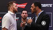 Watch the staredowns between Ryan Bader-Antonio Rodrigo Nogueira and Thomas Almeida-Albert Morales ahead of their main and co-main event showdowns at Fight Night Sao Paulo Saturday live and free on FS1.