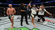 David Teymur talks with Joe Rogan in the Octagon after his win over Lando Vannata at UFC 209.