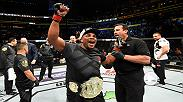 Watch Daniel Cormier in the Octagon after defending his UFC light heavyweight title at UFC 210.