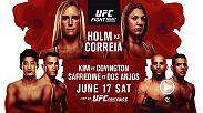 Don't miss Fight Night Singapore on June 17 on UFC FIGHT PASS, featuring Holly Holm vs Bethe Correia, Andrei Arlovski vs Marcin Tybura, and Tarec Saffiedine vs Rafael Dos Anjos.