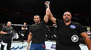 Luke Rockhold reacts after finishing David Branch in the main event of Fight Night Pittsburgh, and calls out the fighter he wants next.