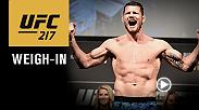 Watch the UFC 217 official weigh-in on Friday, Nov. 3 at 6pm/3pm ETPT from Madison Square Garden in New York City.