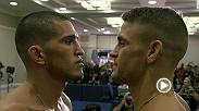 Watch the faceoffs from Friday's official weigh-in, featuring Dustin Poirier and Anthony Pettis.