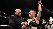 Strawweight champ Rose Namajunas made her first title defense against the woman she took the belt from last year, Joanna Jedrzejczyk. It went the distance and showcased the champ's brilliant technique and skill. She spoke after in the Octagon.