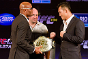 Anderson Silva and Yushin Okami square off
