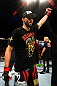 Carlos Condit celebrates his win.