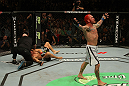Chris Leben knocks out Wanderlei Silva in round 1.