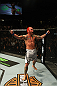 Chris Leben celebrates his win.