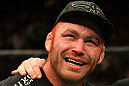 Chris Leben talks with Joe Rogan after his fight.