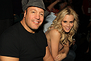 Actor Kevin James and Actress Jenny McCarthy at UFC 132.