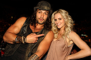 Actor Jason Momoa and Actress Jenny McCarthy at UFC 132.