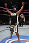 UFC 133: Johny Hendricks celebrates his win.