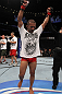 UFC 133: Ivan Menjivar celebrates his win.