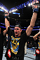 UFC 133: Alexander Gustafsson celebrates his win.