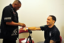 Frankie Edgar before his fight with Gray Maynard