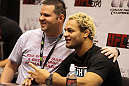 Josh Koscheck poses with a fan