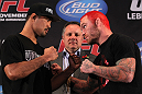 Mark Munoz faces off with Chris Leben