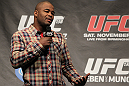 Rashad Evans speaks at the UFC 138 Q&A