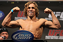 SAN JOSE, CA - NOVEMBER 18:  Urijah Faber weighs in during the UFC 139 Weigh In at the HP Pavilion on November 18, 2011 in San Jose, California.  (Photo by Josh Hedges/Zuffa LLC/Zuffa LLC via Getty Images)
