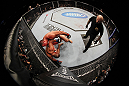 SAN JOSE, CA - NOVEMBER 19: Mauricio Rua (top) attacks Dan Henderson (bottom) up against the righ during an UFC Light Heavyweight bout at the HP Pavillion on November 19, 2011 in San Jose, California.  (Photo by Josh Hedges/Zuffa LLC/Zuffa LLC via Getty Images)