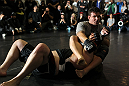 TORONTO, ON - DECEMBER 07:  Frank Mir works out for the fans and media during the UFC 140 Open Workouts at the Xtreme Couture Gym on December 7, 2011 in Toronto, Ontario.  (Photo by Josh Hedges/Zuffa LLC/Zuffa LLC via Getty Images)