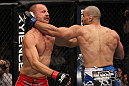 TORONTO, ON - DECEMBER 10:  (R-L) Constantinos Philippou punches Jared Hamman during the UFC 140 event at Air Canada Centre on December 10, 2011 in Toronto, Ontario, Canada.  (Photo by Nick Laham/Zuffa LLC/Zuffa LLC via Getty Images)