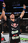 CHICAGO, IL - JANUARY 28:  Chris Weidman reacts after defeating Demian Maia during the UFC on FOX event at United Center on January 28, 2012 in Chicago, Illinois.  (Photo by Nick Laham/Zuffa LLC/Zuffa LLC via Getty Images) *** Local Caption *** Chris Weidman