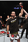 LAS VEGAS, NV - FEBRUARY 04:  Matt Brown is declared the winner in his fight against Chris Cope during the UFC 143 event at Mandalay Bay Events Center on February 4, 2012 in Las Vegas, Nevada.  (Photo by Nick Laham/Zuffa LLC/Zuffa LLC via Getty Images) *** Local Caption *** Matt Brown
