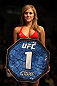 OMAHA, NE - FEBRUARY 15:  UFC Octagon Girl Brittney Palmer introduces round one before the Brookins v Rocha bout during the UFC on FUEL TV event at Omaha Civic Auditorium on February 15, 2012 in Omaha, Nebraska.  (Photo by Josh Hedges/Zuffa LLC/Zuffa LLC via Getty Images) *** Local Caption *** Brittney Palmer