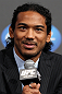 TOKYO, JAPAN - FEBRUARY 23:  Benson Henderson attends the final UFC 144 pre-fight press conference at the Ritz-Carlton Hotel on February 23, 2012 in Tokyo, Japan.  (Photo by Josh Hedges/Zuffa LLC/Zuffa LLC via Getty Images) *** Local Caption *** Benson Henderson