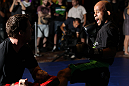SYDNEY, AUSTRALIA - FEBRUARY 28:  Demetrious Johnson works out for the media during the UFC on FX open workouts at the Star Casino on February 28, 2012 in Sydney, Australia.  (Photo by Josh Hedges/Zuffa LLC/Zuffa LLC via Getty Images) *** Local Caption *** Demetrious Johnson