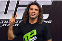 ATLANTIC CITY, NJ - JUNE 20: Clay Guida poses for a photograph after an open workout prior to UFC on FX at Revel Casino in Atlantic City, New Jersey. (Photo by Drew Hallowell/Zuffa LLC/Zuffa LLC via Getty Images)
