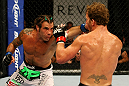 ATLANTIC CITY, NJ - JUNE 22:  Clay Guida (L) throws a punch against Gray Maynard (R) in the main event lightweight bout during UFC on FX 4 at Revel Casino on June 22, 2012 in Atlantic City, New Jersey.  (Photo by Nick Laham/Zuffa LLC/Zuffa LLC)