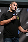 TORONTO, CANADA - SEPTEMBER 21:   Cain Velasquez interacts with fans during a Q&A session before the UFC 152 weigh in at Mattamy Athletic Centre at the Gardens on September 21, 2012 in Toronto, Ontario, Canada.  (Photo by Josh Hedges/Zuffa LLC/Zuffa LLC via Getty Images)