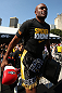 RIO DE JANEIRO, BRAZIL - OCTOBER 10:  Anderson Silva walks onto the mat before an open training session ahead of UFC 153 at Arcos da Lapa: Praca Cardeal Camara on October 10, 2012 in Rio de Janeiro, Brazil.  (Photo by Josh Hedges/Zuffa LLC/Zuffa LLC via Getty Images)