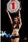 MACAU, MACAU - NOVEMBER 10: UFC Octagon Girl Jessica Cambensy introduces a round at the UFC Macao event inside CotaiArena on November 10, 2012 in Macau, Macau. (Photo by Josh Hedges/Zuffa LLC/Zuffa LLC via Getty Images)