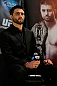 MONTREAL, CANADA - NOVEMBER 14:  Carlos Condit interacts with media and fans during the final pre-fight press conference ahead of UFC 154 at New City Gas on November 14, 2012 in Montreal, Quebec, Canada.  (Photo by Josh Hedges/Zuffa LLC/Zuffa LLC via Getty Images)