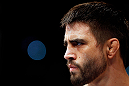 MONTREAL, QC - NOVEMBER 17:  Carlos Condit look on before his welterweight title bout against Georges St-Pierre during UFC 154 on November 17, 2012  at the Bell Centre in Montreal, Canada.  (Photo by Josh Hedges/Zuffa LLC/Zuffa LLC via Getty Images)