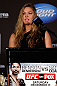 SEATTLE, WA - DECEMBER 06:  Ronda Rousey addresses the media after being presented with the UFC women's bantamweight championship during the UFC on FOX press conference on December 6, 2012 at Key Arena in Seattle, Washington.  (Photo by Josh Hedges/Zuffa LLC/Zuffa LLC via Getty Images)