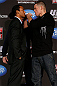 SEATTLE, WA - DECEMBER 06:  (L-R) Opponents Benson Henderson and Nate Diaz face off during the UFC on FOX press conference on December 6, 2012 at Key Arena in Seattle, Washington.  (Photo by Josh Hedges/Zuffa LLC/Zuffa LLC via Getty Images)