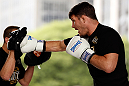 SAO PAULO, BRAZIL - JANUARY 16:  Michael Bisping participates in an open workout session for media and fans on January 16, 2013 at Parque Anhangabau in Sao Paulo, Brazil. (Photo by Josh Hedges/Zuffa LLC/Zuffa LLC via Getty Images)