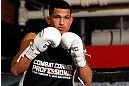 CHICAGO, IL - JANUARY 23:  Anthony Pettis conducts an open workout session for media on January 23, 2013 at UFC Gym in Chicago, Illinois. (Photo by Josh Hedges/Zuffa LLC/Zuffa LLC via Getty Images)