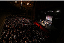 CHICAGO, IL - JANUARY 25:  A general view of the theatre as Demetrious Johnson weighs in during the UFC on FOX weigh-in on January 25, 2013 at the Chicago Theatre in Chicago, Illinois. (Photo by Josh Hedges/Zuffa LLC/Zuffa LLC via Getty Images)