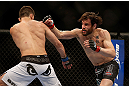 LAS VEGAS, NV - FEBRUARY 02:  (R-L) Jon Fitch punches Demian Maia during their welterweight fight at UFC 156 on February 2, 2013 at the Mandalay Bay Events Center in Las Vegas, Nevada.  (Photo by Josh Hedges/Zuffa LLC/Zuffa LLC via Getty Images) *** Local Caption *** Jon Fitch; Demian Maia