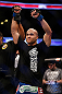 ANAHEIM, CA - FEBRUARY 23:  Robbie Lawler is declared the winner over Josh Koscheck in their welterweight bout during UFC 157 at Honda Center on February 23, 2013 in Anaheim, California.  (Photo by Josh Hedges/Zuffa LLC/Zuffa LLC via Getty Images) *** Local Caption *** Josh Koscheck; Robbie Lawler